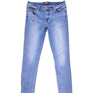 LUCK BRAND paint splatter BROOKE SKINNY JEANS